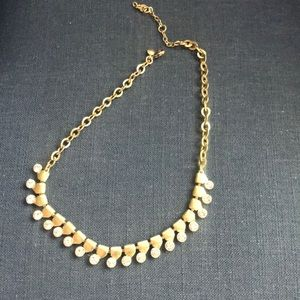 J. Crew crystal & gold necklace